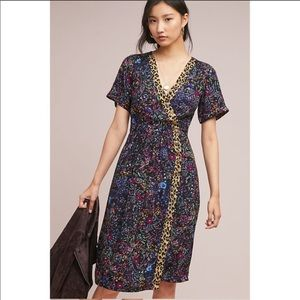 Anthropologie Maeve Morgan Wrap Floral Dress